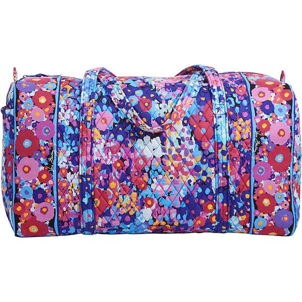 Vera Bradley Large Duffel Travel Duffel Bag ($85) ❤ liked on Polyvore featuring bags, luggage, all purpose duffels, duffels and green