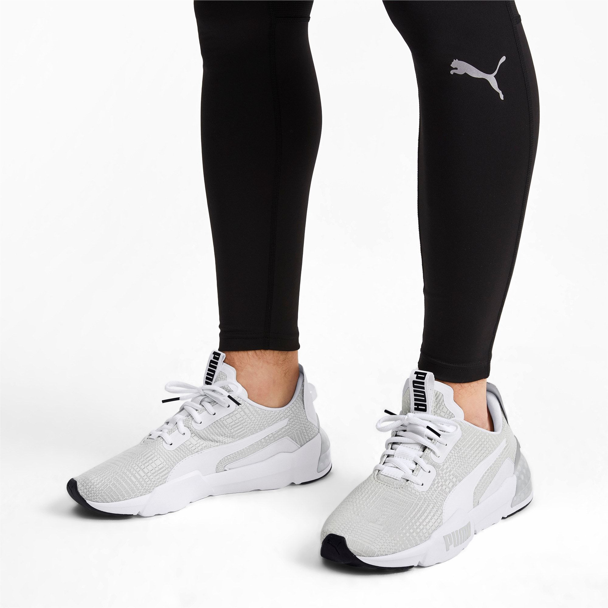 PUMA Cell Phase Lights Men's Running Shoes in WhiteGrey