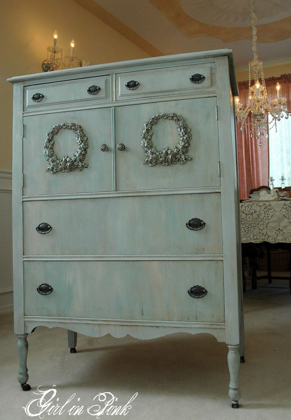 Decorating Ideas Extraordinary Bedroom Decoration Design With Greyish Blue Paint Wood Dresser And