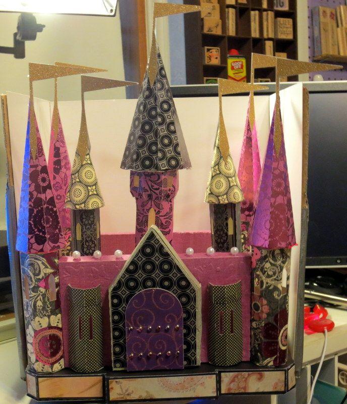 3D Castle from pattern Cricut cards, 3d