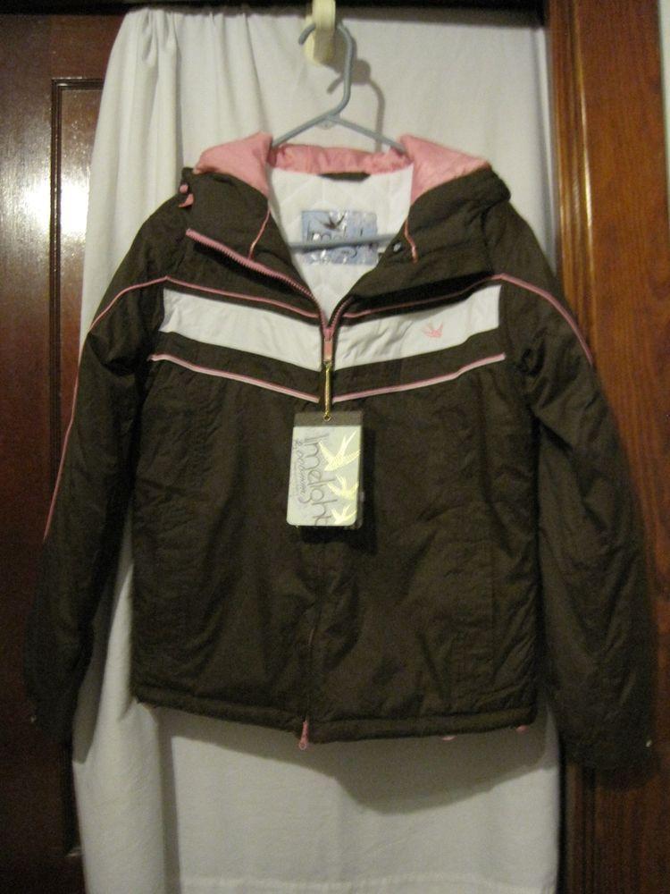 Womens Juniors Size M Medium  Winter Coat or Snow Jacket Brown,White, Pink * New #Limelight #BasicCoat