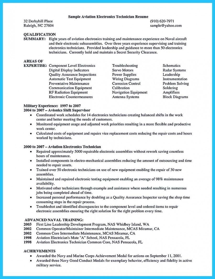 12 Engineer Technician Resume Instance