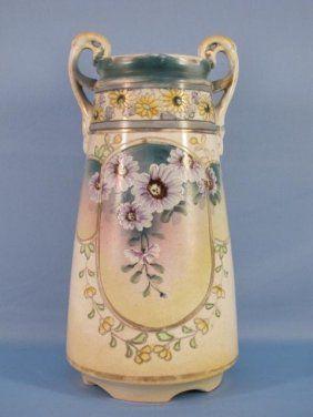 021477 Nippon Porcelain Vase Nagoya Snb C 1940 On Porcelain China Porcelain Vase