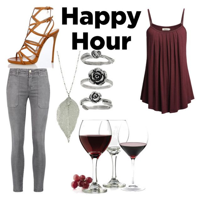 """Wine time"" by guns8roses ❤ liked on Polyvore featuring Dsquared2, Current/Elliott, Libbey and Nordstrom"