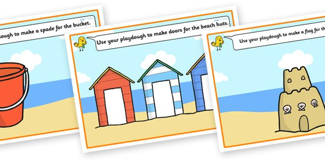 twinkl resources seaside playdough mats thousands of printable primary teaching resources. Black Bedroom Furniture Sets. Home Design Ideas