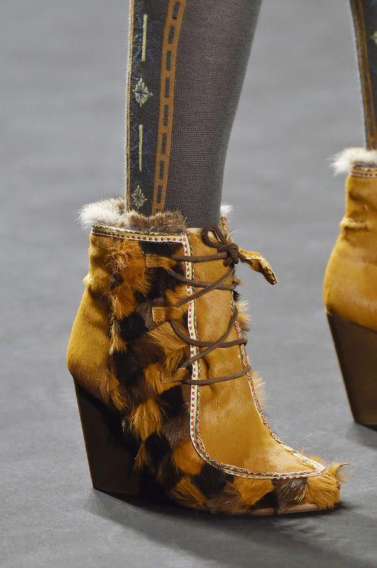 Buty Trendy Jesien Zima 2015 2016 Boots Anna Sui Black Leather Boots