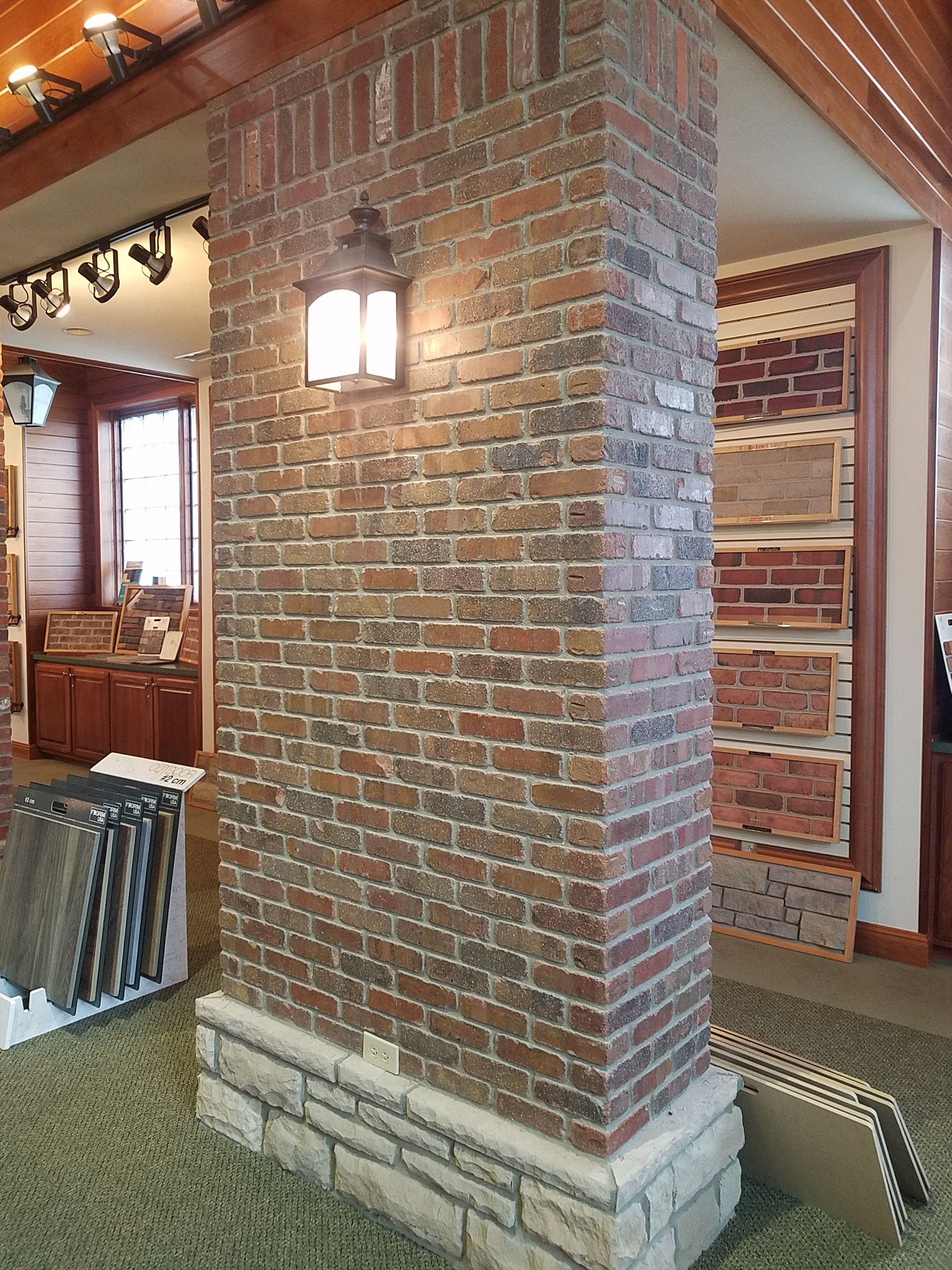 General Shale Thin Brick Smokestack Exposedbrick Brick Backsplash Thin Brick Brick