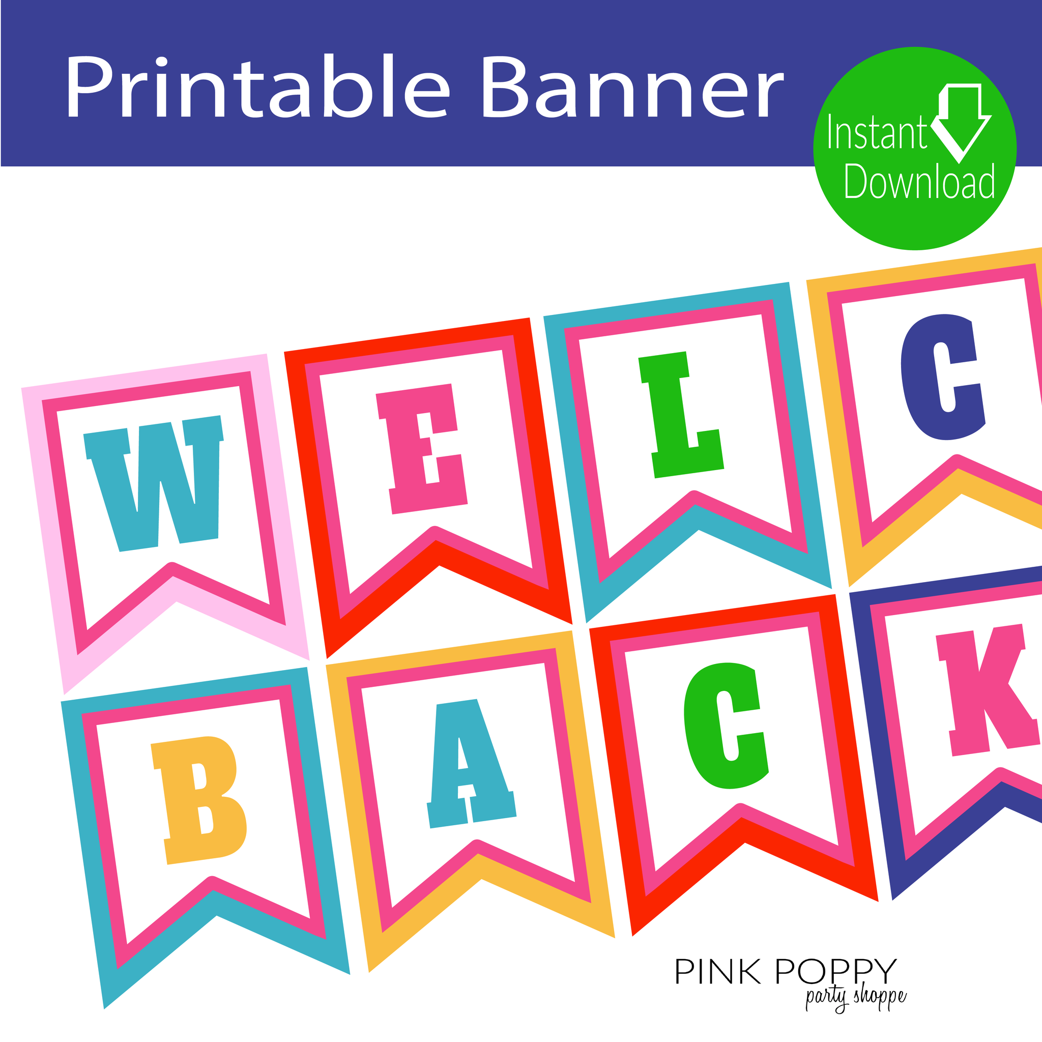 free printables welcome back banner edukacja pinterest free printables banners and school. Black Bedroom Furniture Sets. Home Design Ideas