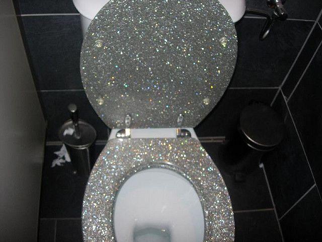 Pleasing Glitter Toilet Glitter Toilet Seat Home Decor Theyellowbook Wood Chair Design Ideas Theyellowbookinfo