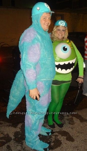 awesome mike and sully monsters inc couples costume - Sully Halloween Costumes Monsters Inc