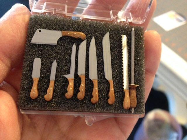Miniature Knives Kitchen Utensils W Wood Artisan