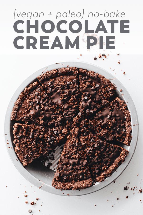 No Bake Vegan Chocolate Cream Pie