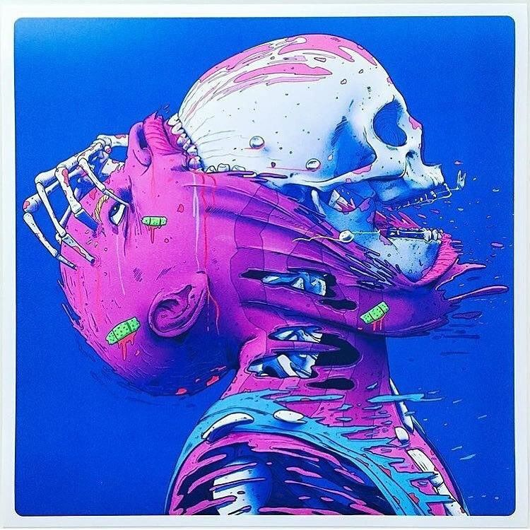 Pin by Charles Schultz on Skulls   Bizarre art, Vaporwave ...