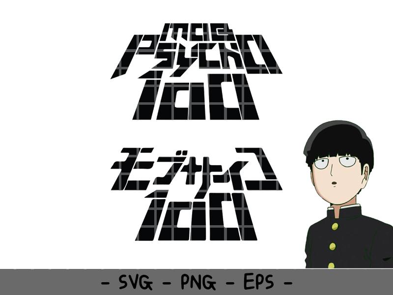 Mob Psycho 100 Svg 2 Desings Jp 038 Eng Font Digital Download Font Digital Mob Psycho 100 Psycho 100