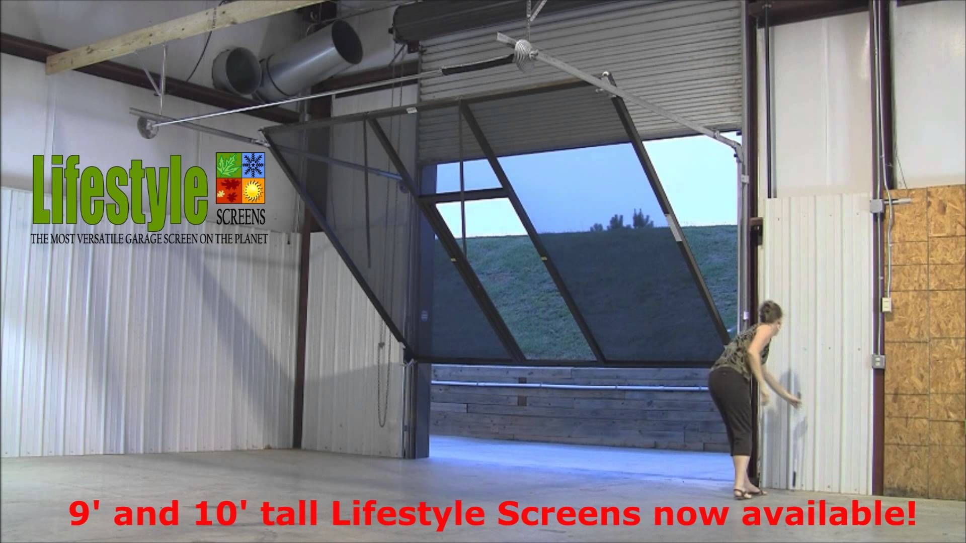 Superior This Video Presents A Detailed View Of The Operation Of The Lifestyle  Screens Garage Screen Which Contains A Retractable Roll Up Passage Door.