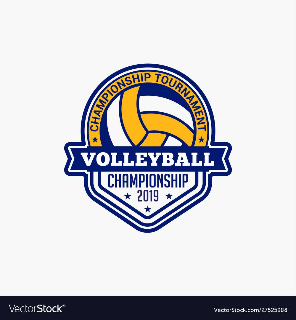 Volleyball Club Badge Logo 1 Royalty Free Vector Image Affiliate Badge Logo Volleyball Club Ad Vector Free Book Silhouette Fish Logo