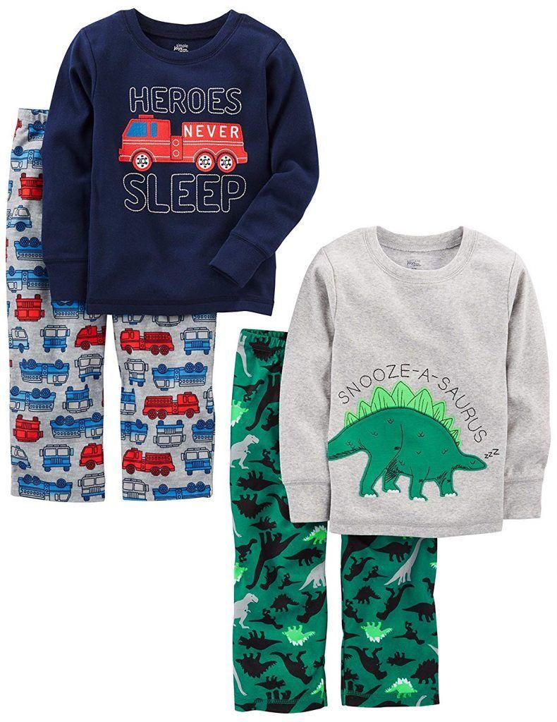 4d5aebb48 Simple Joys by Carter s Boys  4-Piece Pajama Set