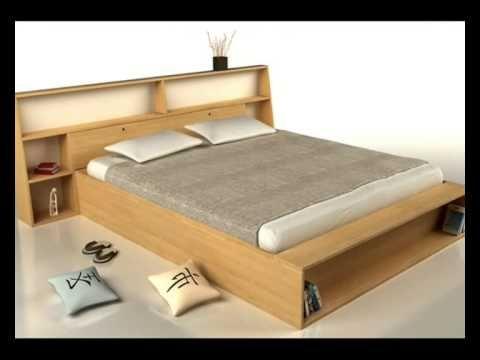 Cama japonesa camas de madera camas japonesas for Cama tipo japonesa