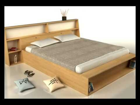 Cama japonesa camas de madera muebles pinterest - Camas modernas para jovenes ...