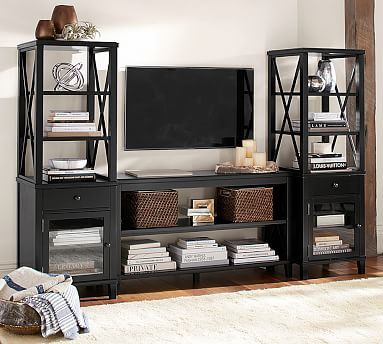 Cassie Entertainment Center With Towers New Classic