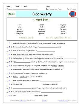 bill nye biodiversity worksheet mmosguides. Black Bedroom Furniture Sets. Home Design Ideas