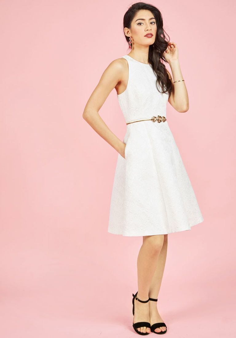 Elegant Evolution A-Line Dress in Ivory in 16