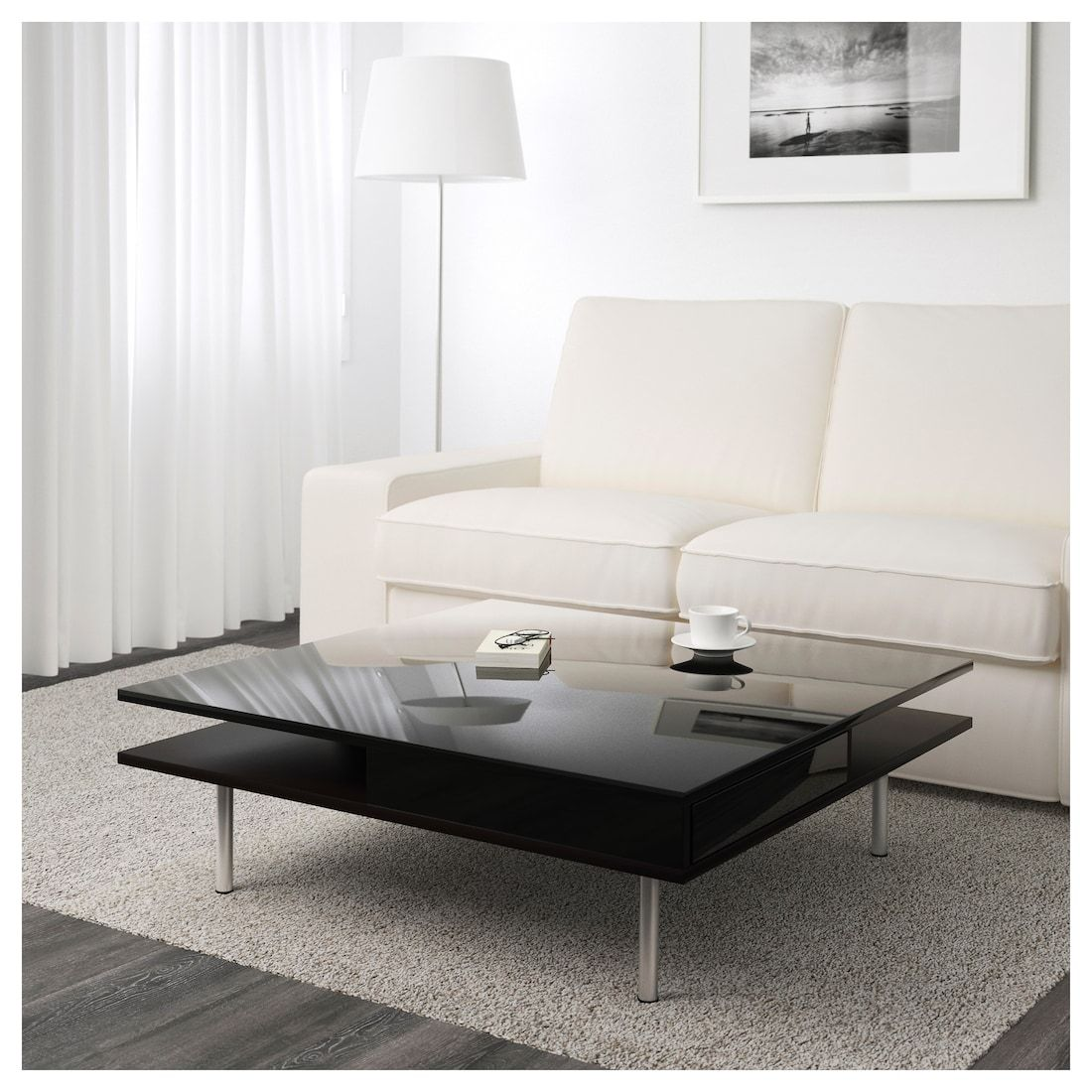 Tofteryd Coffee Table High Gloss Black 37 3 8x37 3 8 Ikea In 2020 White Living Room Tables Ikea Coffee Table Black Coffee Tables [ jpg ]