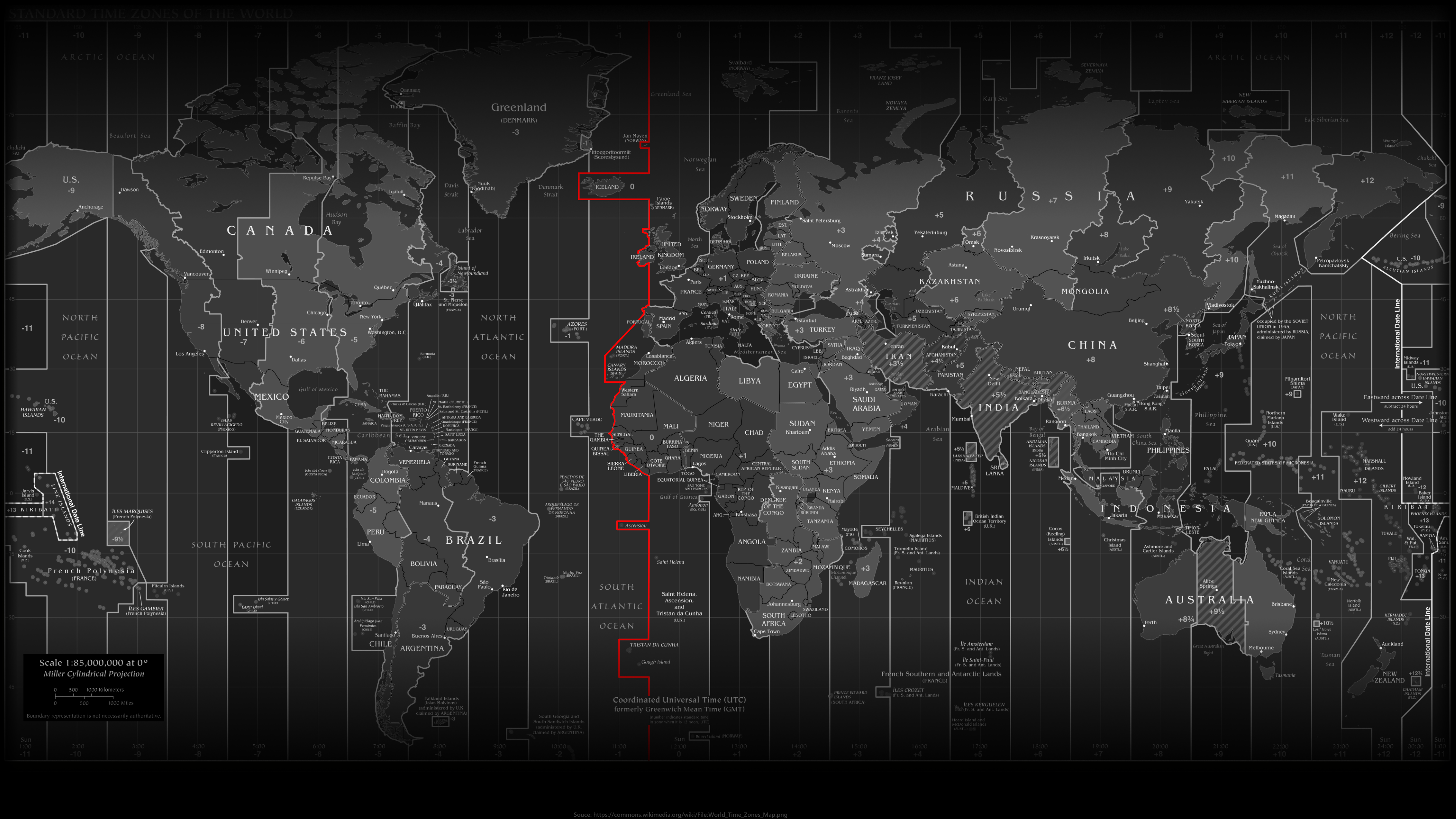 World Time Zones Map 2016 3840x2160 16 9 Png World Time Zones Time Zone Map World Map Wallpaper
