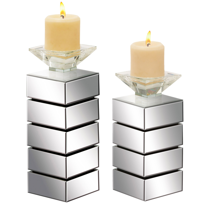 Casa Cortes Hydra Mirrored Pillar Candle Holder