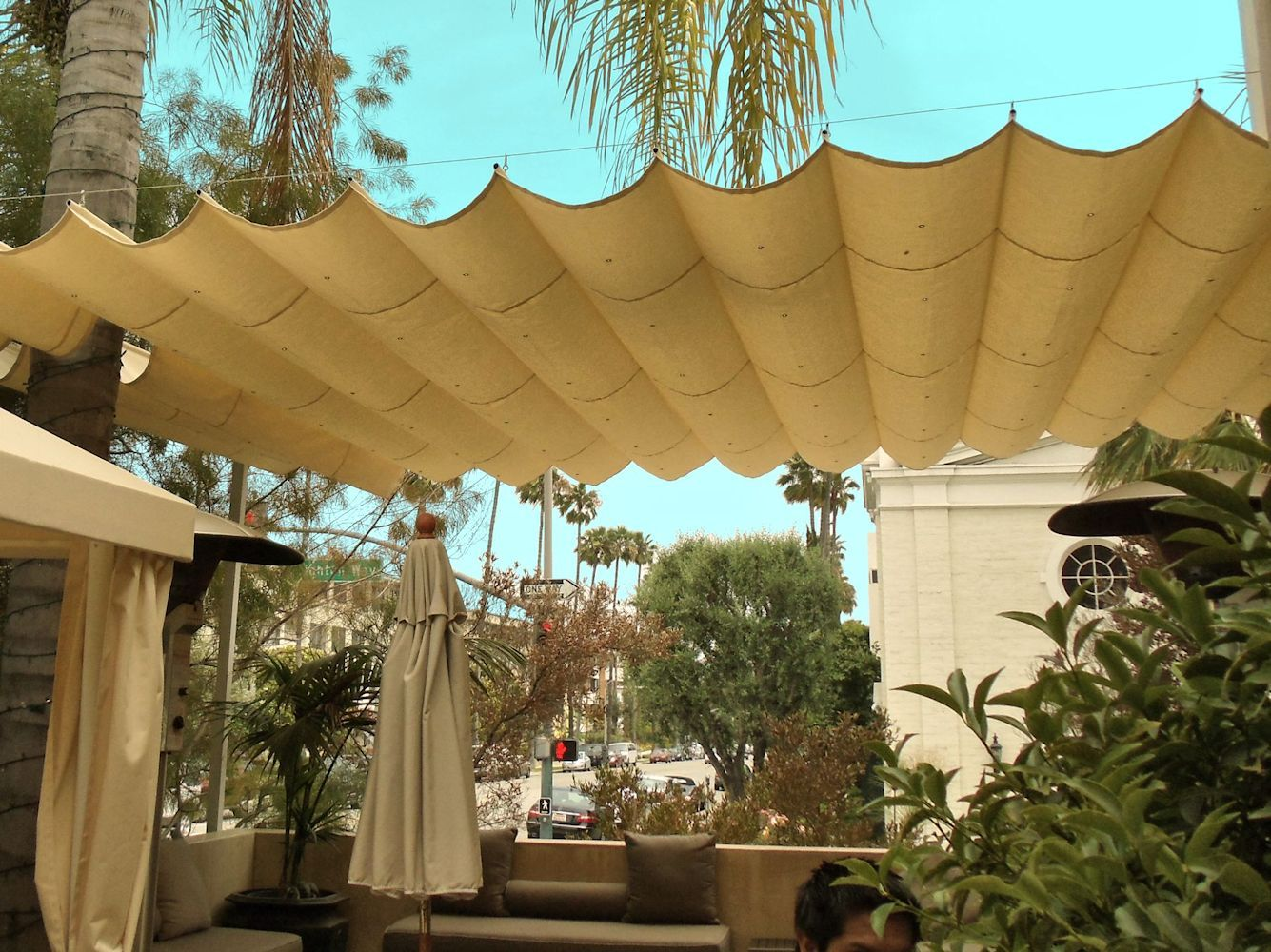 slide wire canopy awning retractable shade for backyard