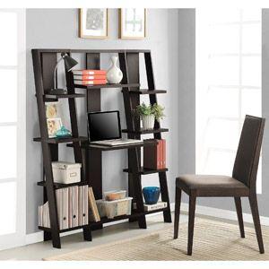 Altra Ladder Desk And Bookcase Espresso Finish WalMart Who Knew