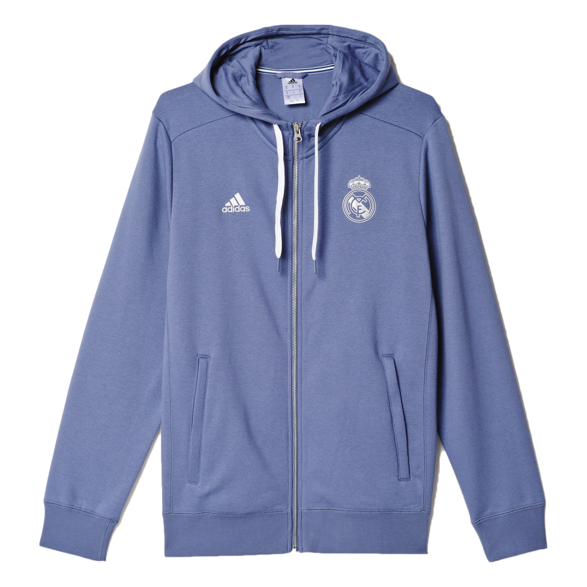 4e0df46b9c1 A full-zip football hoodie for loyal fans of Real Madrid. Support Real  Madrid in this men s full-zip football hoodie. Club colors and a club crest  show your ...