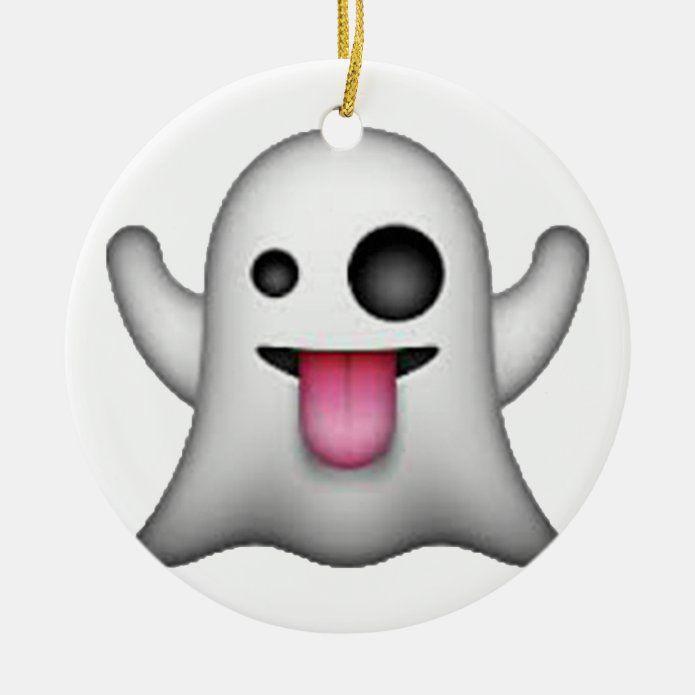Ghost - Emoji Ceramic Ornament - tap/click to personalize and buy #CeramicOrnament #emoji #ghost