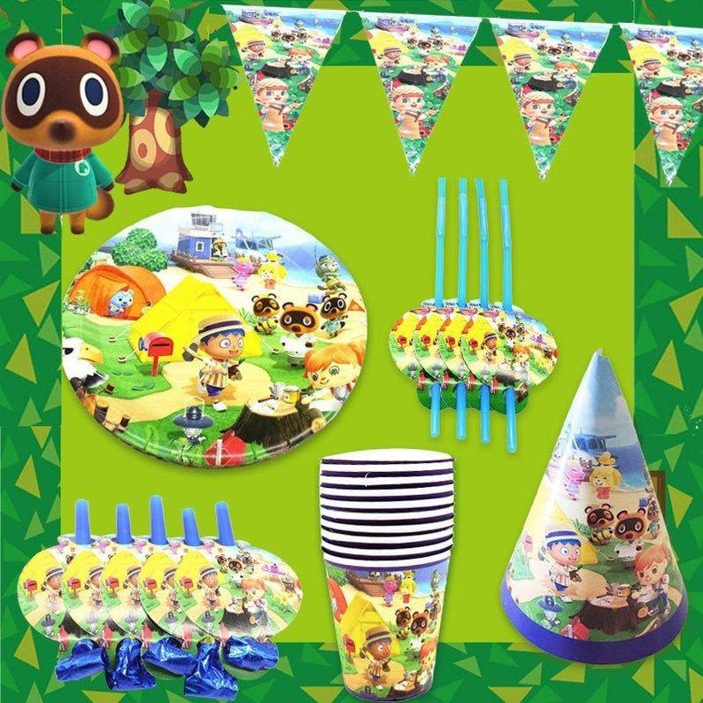 Animal crossing party tablewareanimal crossing party