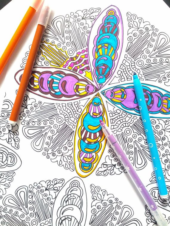 Coloriage Adulte Feutre.7 Coloriages Adultes Mandalas Enchevetrement Par Maud It