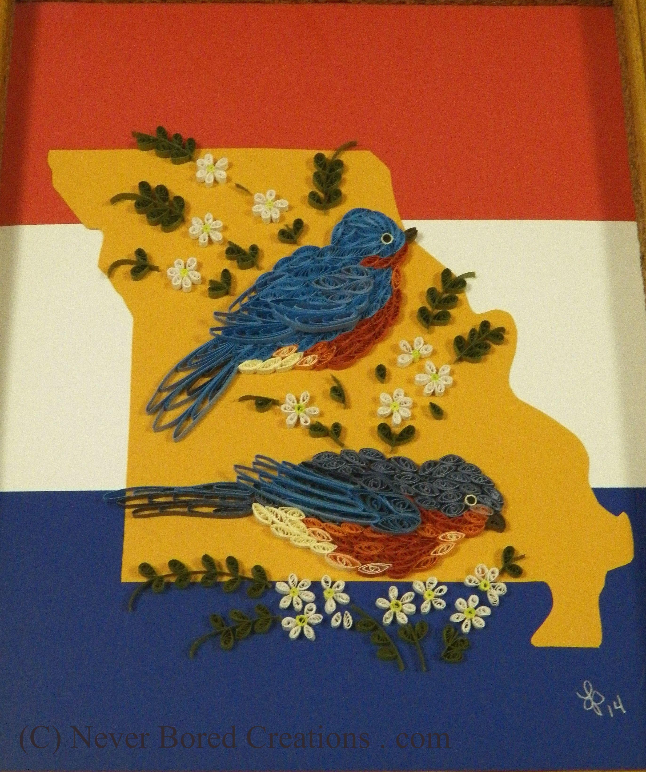 All things missouri state bird bluebird state flower