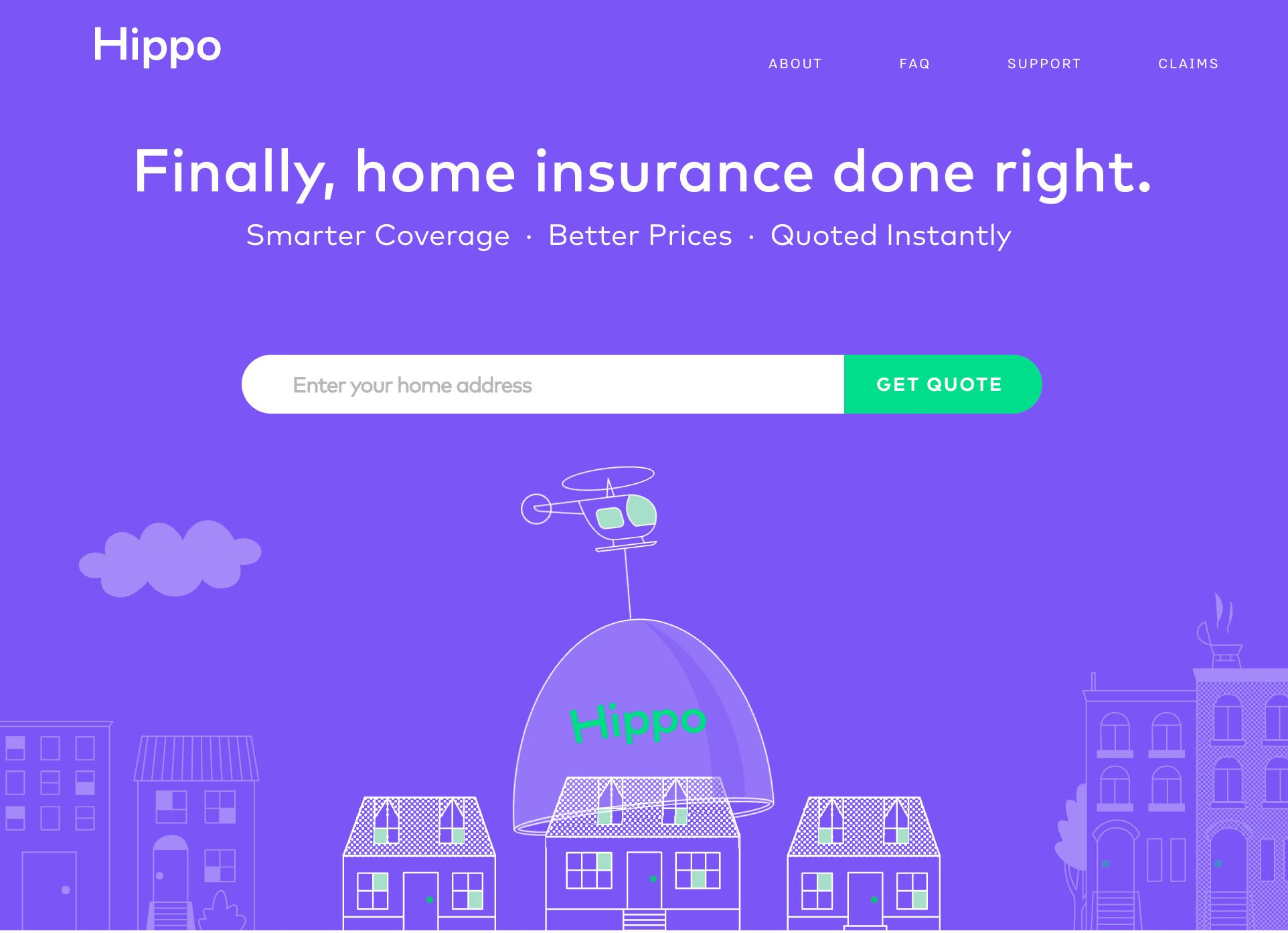Hippo provides comprehensive homeowners insurance at