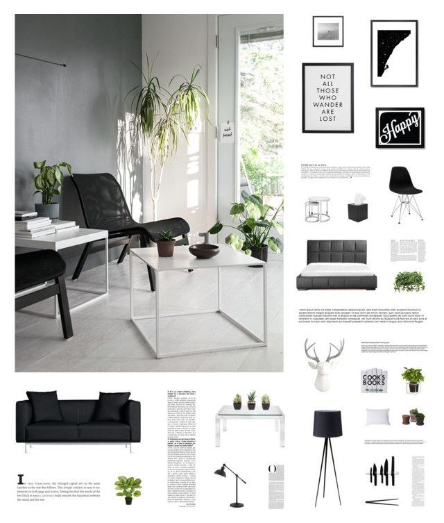 """SLEEK LIVING"" by c-hristinep ❤ liked on Polyvore featuring interior, interiors, interior design, home, home decor, interior decorating, Matthew Hilton, Home Decorators Collection, Anja and Royce Leather"