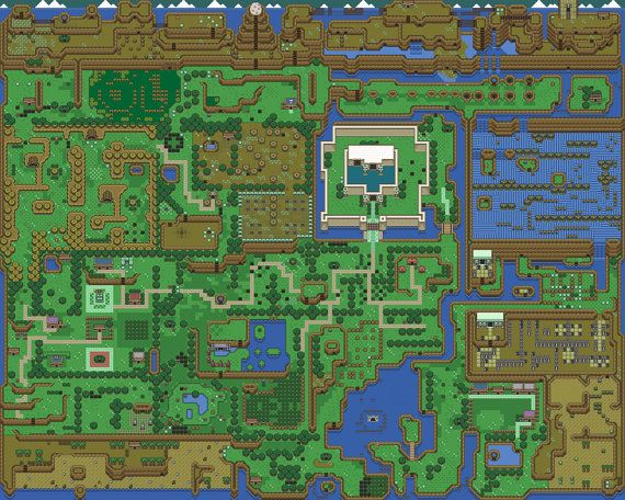 Zelda Link S Awakening Map High Quality Poster By