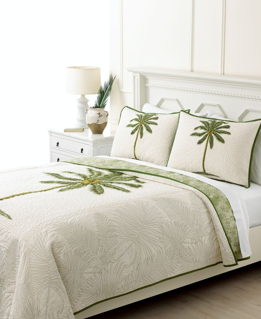 Martha Stewart Collection Coconut Palm Full/Queen Quilt | Products ... : tropical quilts queen - Adamdwight.com