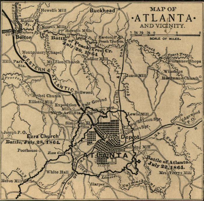 Pau Map%0A Atlanta Map  Atlanta was much smaller in      than it is today  Urban  development