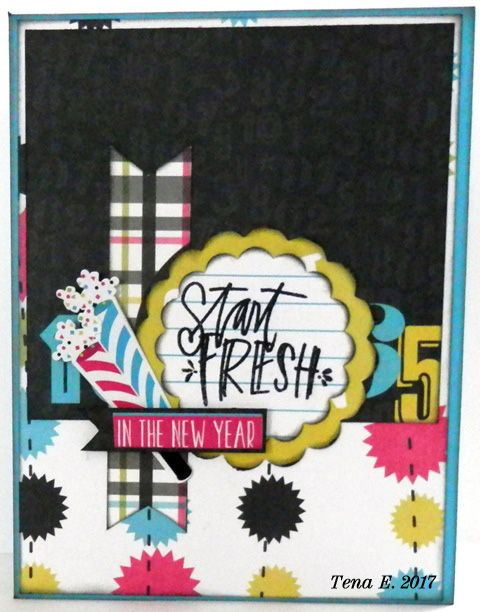 happy new year simple set jan card sketch challenge sketch