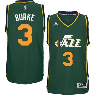 low cost 7d37b 98d3d Mens Utah Jazz Trey Burke adidas Green 2014-15 New Swingman ...