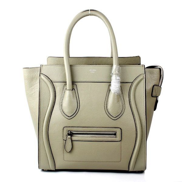 2ff6209112de Celine Luggage Boston Lune Light Grey Drummed Leather Bag