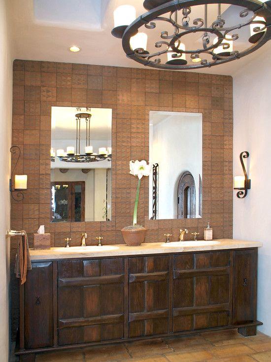 Santa Fe Style Master Bath In 2019 Spanish Home Decor