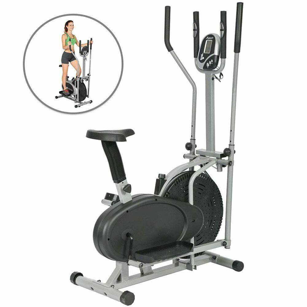 Ad Ebay 2 In 1 Elliptical Bike Exercise Stepper Machine Cross
