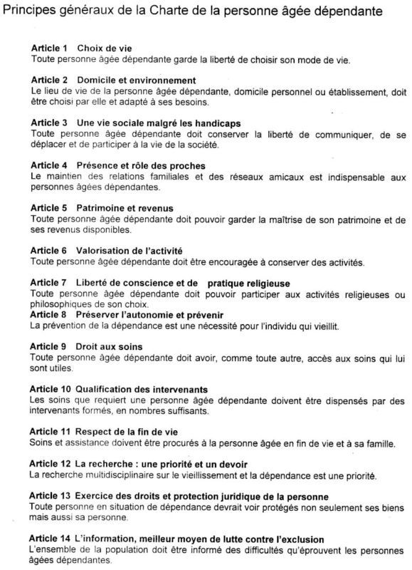 Charte De La Personne Agee Dependante Devenir Aide Soignante Devenir Aide Soignante Aide Soignante Module Aide Soignante