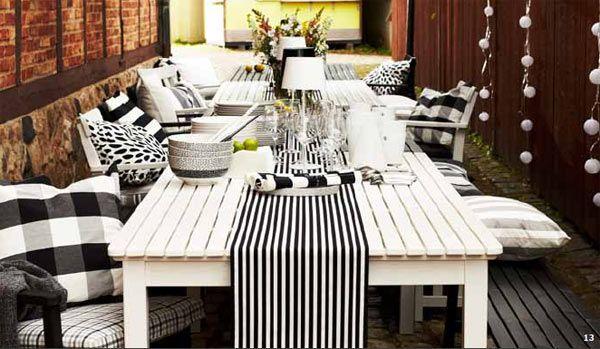 Mesa de pino macizo blanca angso ikea house ideas picnic table table ikea - Mesa exterior ikea ...