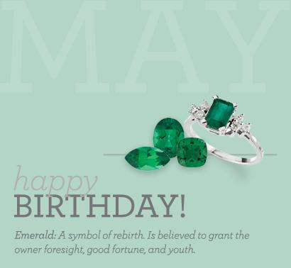 Happy May Birthdays! #Emerald   Green   May birthday