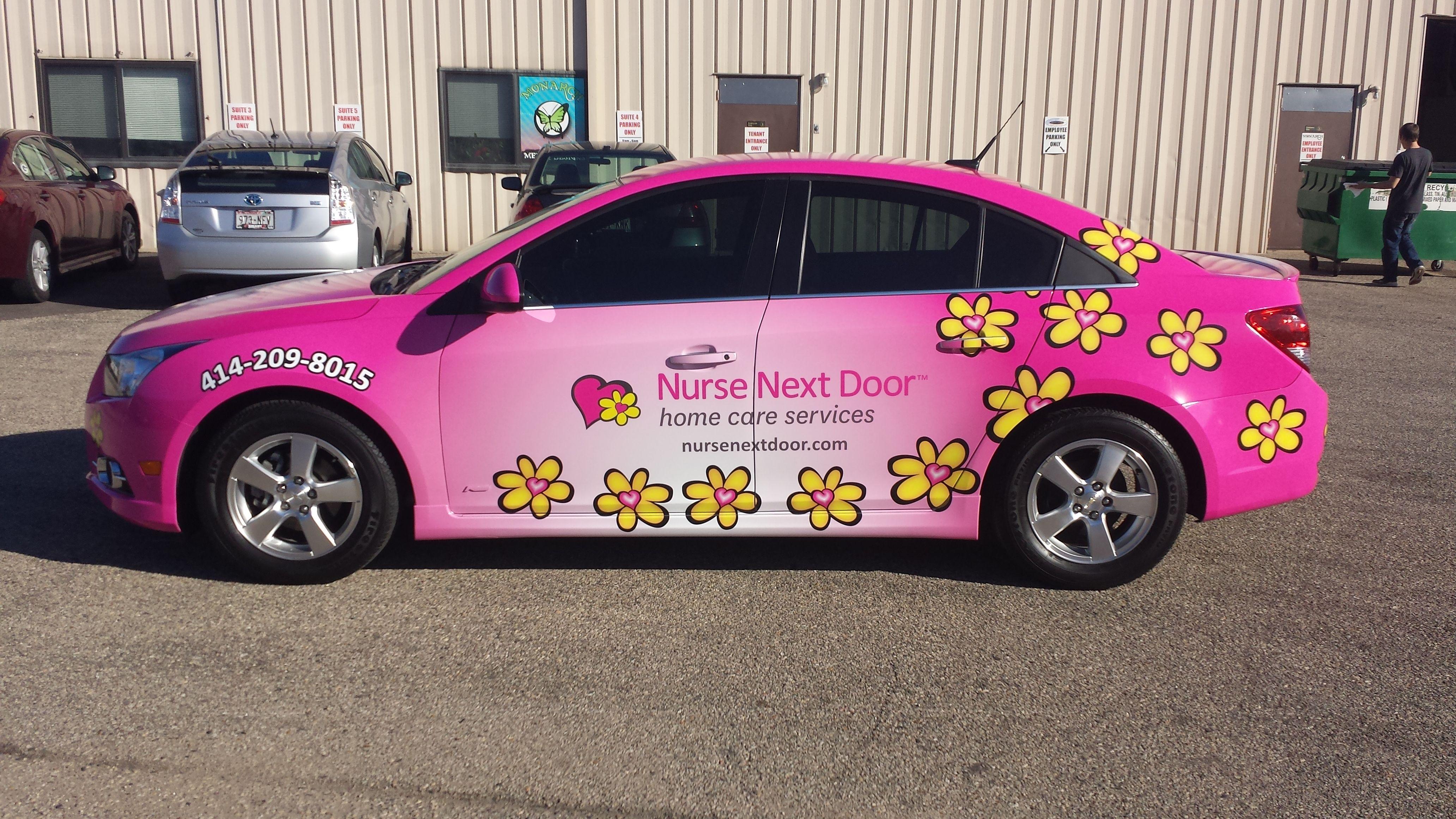Nurse Next Door Vehicle Wrap Done By Monarch Media Designs In